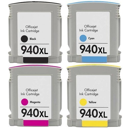 940 XL 940Compatible Ink Cartridge for HP <font><b>940XL</b></font> C4906A C4907A C4908A C4909A For HP OfficeJet Pro 8000 8500a 8500printer with ink image