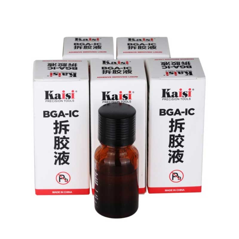 1 Bottle Kaisi BGA IC Adhesive Glue Removing Epoxy Remover Cell Phone CPU Chip Cleaner 20ml Repair Remove Liquid Tool