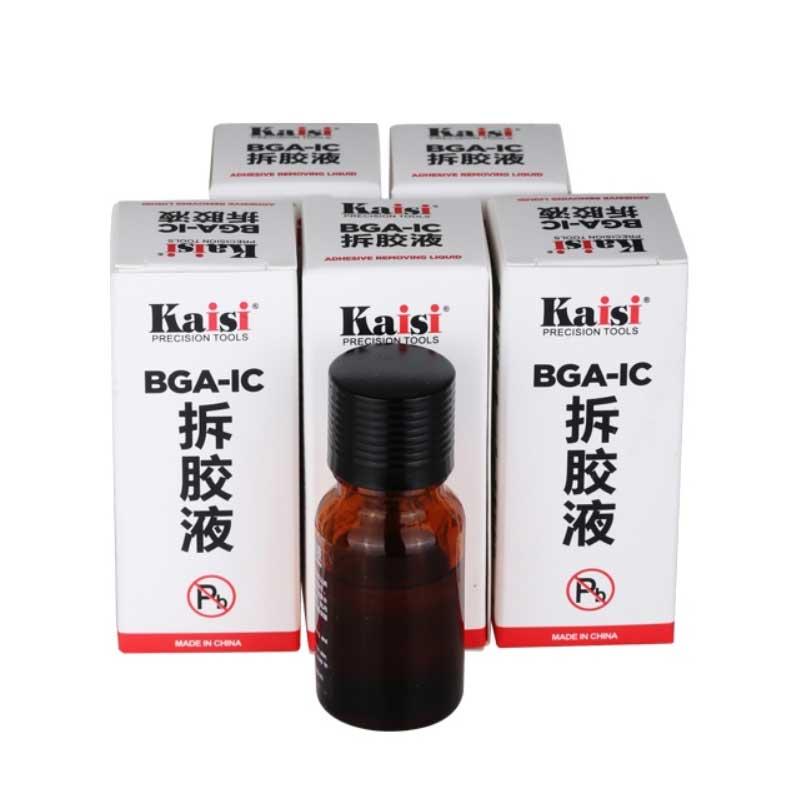 1 Bottle Kaisi BGA IC Adhesive Glue Removing Epoxy Remover Cell Phone CPU Chip Cleaner 20ml Repair Remove Liquid Tool
