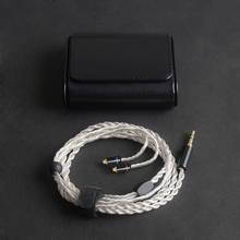 купить OKCSC Earphone Dedicated Cable MMCX 0.78mm 2PIN 6 Cores Silver Plated Headphone HiFi Upgrade Cord 3.5mm Stereo Plug for Westone дешево