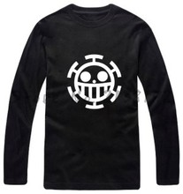100% cotone anime comic op one piece long sleeve t shirt gli amanti uomo donna o collo t-shirt casual fashion brand plus size tees(China)