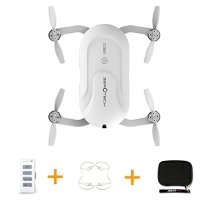 Zerotech dobby bolsillo selfie drone fpv con 4 k hd cámara gps mini rc quadcopter (con Mochila y Cubierta de Protección y Batería)