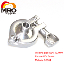 1 set 12.7MM OD Sanitary Weld on 34mm Ferrule + Tri Clamp + Silicone Gasket Stainless Steel SS304 SWT-12.7-2