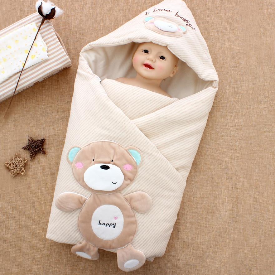 Warm Baby Sleeping Bag Pure Cotton Sleep Sack Soft Sleep Bag Anti Kick Quilt Sleeping Bags Infant For Autumn Winter Sleepsack