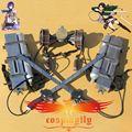Ataque On Titan Shingeki no Kyojin Mikasa Ackerman Levi Eren Jaeger 11 KG PVC espada Cosplay Prop