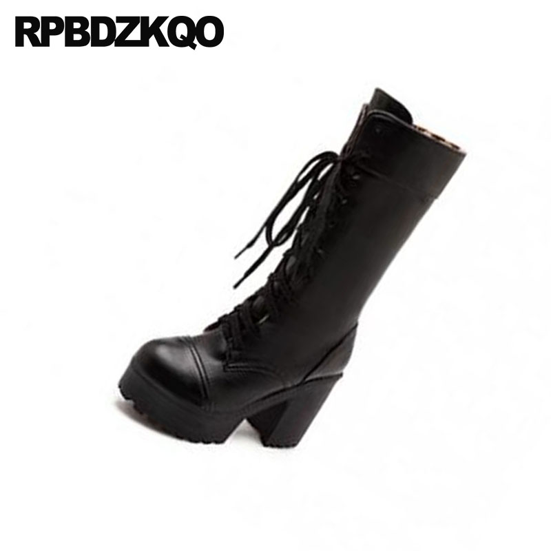 25970aac Arriba Blanco Gótico Invierno blanco Para Femenino Barato Negro Negro Alto  De Talla Moda Zapatos Delgadas Nue Señoras Tacón Botas Personalizado  Plataforma ...