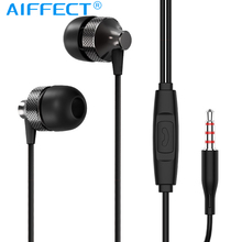 AIFFECT Stereo Bass Earphone 3.5mm In ear Earbuds with Microphone For Computer Cell Phone Wired Gaming Sports Earphone remax rm501 stylish in ear earphone w microphone for cell phone black 3 5mm