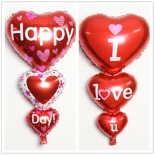 2 Sizes Balloon Big I Love You and Happy Day
