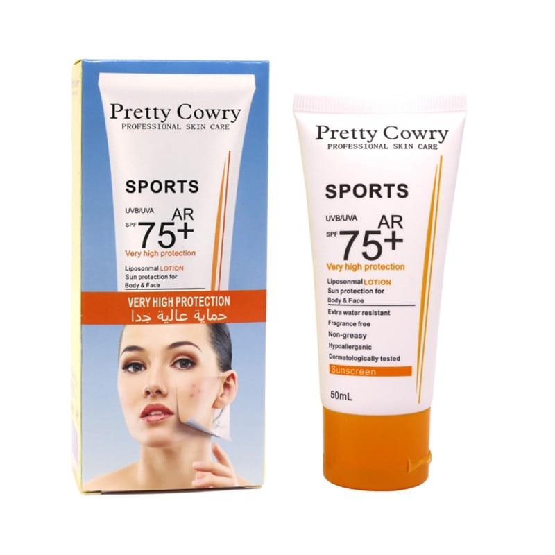 Sunscreen Protetor SPF 75+ Whitening Uv Radiation Solar Sunscreen Cream Sunblock Lotion Sun Screen
