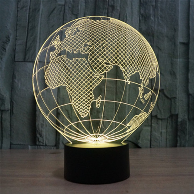 Tienda online hot 7 colores creativo 3d world map acrílico visual ...