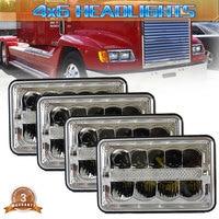 4 Pcs 2Pcs 1Pcs 4x6 inch 45W LED truck headlight replacement H4651/H4652/H4656/H4666/H654 H4 plug work light for fire truck