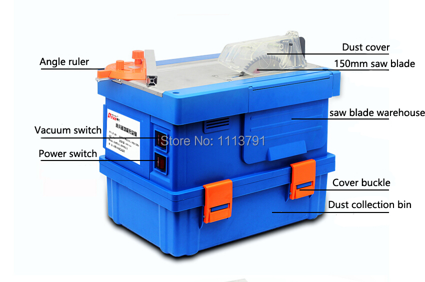 Multifunction Dust Sawing Machine Cutting Laminate Flooring Solid Wood Installation Work Table Saws In Saw Machinery From Tools On Aliexpress Com