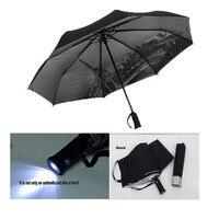 4 Renk satış LED Şemsiye Yağmur Kadınlar şemsiye UV şemsiye feneri Eyfel Kulesi ile Erkekler güneş gölge şemsiye otomatik şemsiye