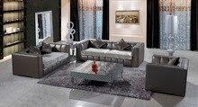Primer grado de vaca real sofá de cuero sofá de la sala muebles para el hogar el envío a su puerto 1 + 2 + 3 plazas
