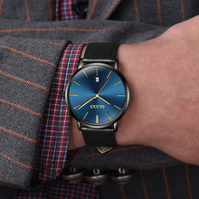 OLEVS Ultra thin Fashion Male Wristwatch Leather Watchband Business Watches Waterproof Scratch-resistant Men Watch Clock G5869P