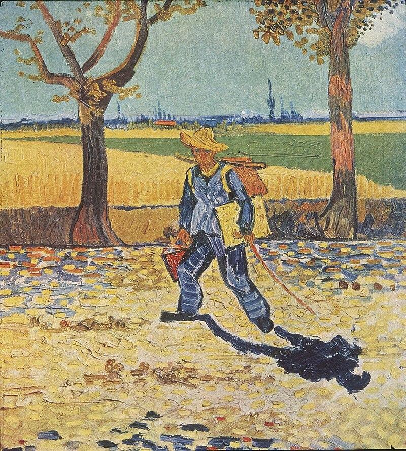 Peinture à l'huile impressionniste Vincent Van Gogh Reproduction sur toile peintre sur la route de Tarascon, 1888 Art mural peint à la main