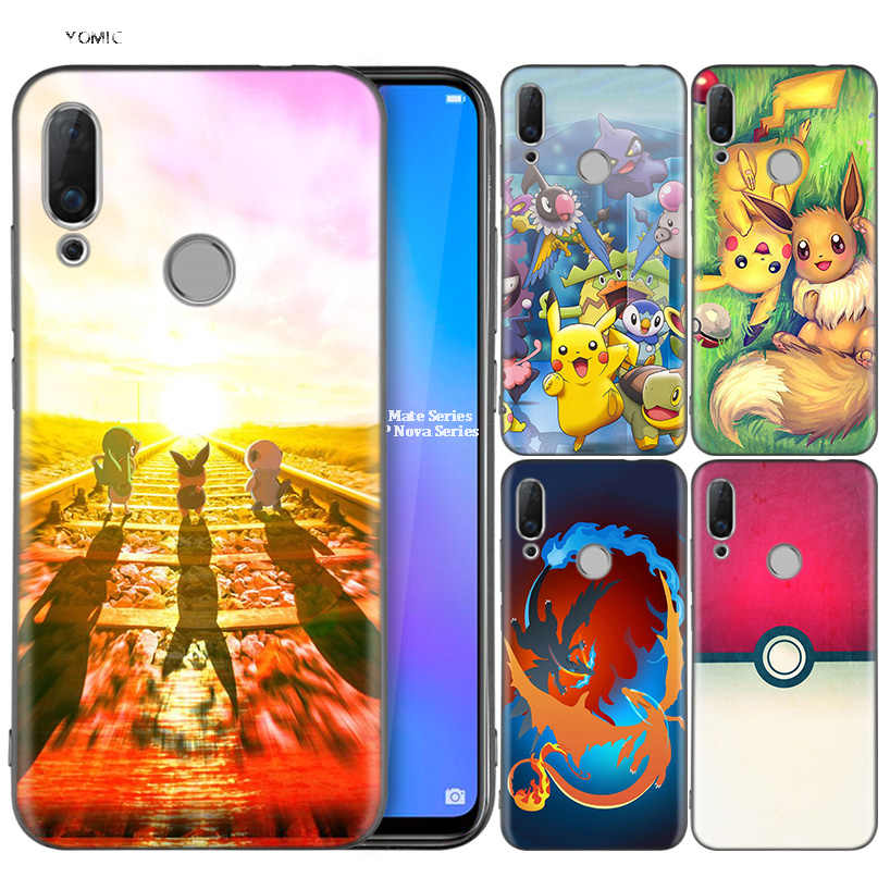 Silicone Coque Case for Huawei P30 P20 P10 P9 Mate 20 10 Lite Pro Nova 3i 4e 3E P Smart 2019 2018 Plus Cartoon Pokemons