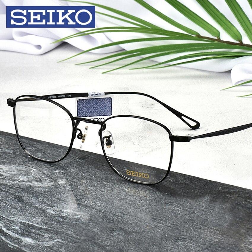 SEIKO titane lunettes cadre lunettes de Prescription hommes lunettes dioptriques lunettes optiques lunettes correctrices cadre avec lentilles