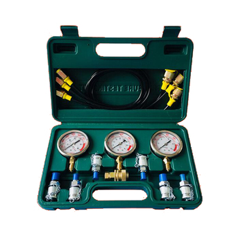 Portable Excavator Hydraulic Pressure Tester Pressure Gauge Tools Kit with 6 Test Couplings Y