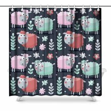 Aplysia Cute Pattern Made With Sheep Flowers Animals Plants
