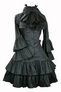 Femmes Vintage Lolita robe dames gothique collège princesse robe Lolita Costumes