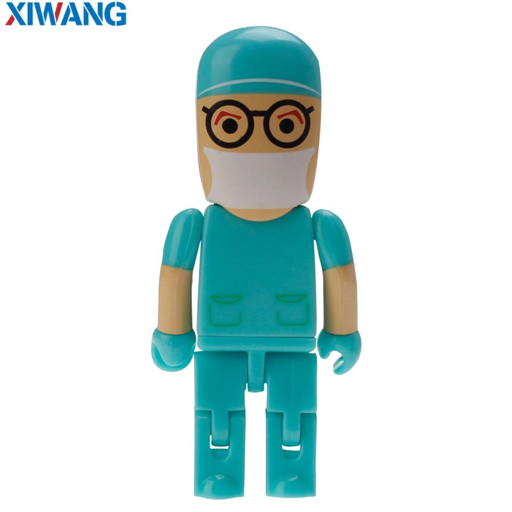 Image 3 - Новый мультяшный флеш накопитель робот Доктор модель медсестры USB 2,0 флэш накопитель 128 Гб 64 ГБ 32 ГБ 16 ГБ 8 ГБ 4 ГБ зубной USB флэш накопитель-in USB флэш-накопители from Компьютер и офис