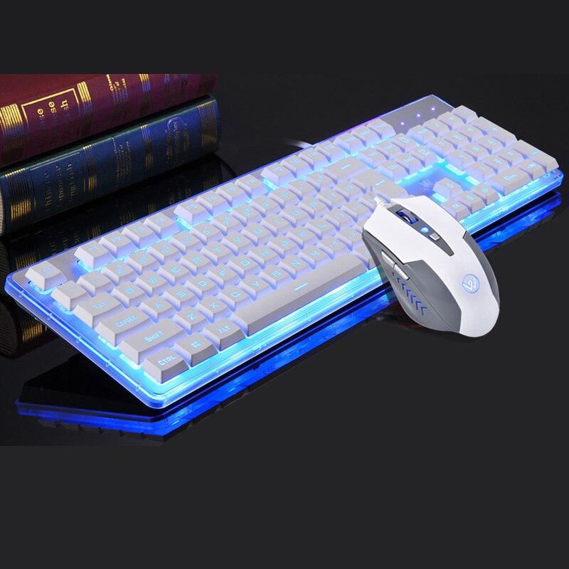 bilder für Mode LED Hintergrundbeleuchtung USB Verkabelt Gaming-tastatur Pro Optische Spiel Gamer Tastatur für Desktop-Laptop-Computer + Pro Gaming Mouse