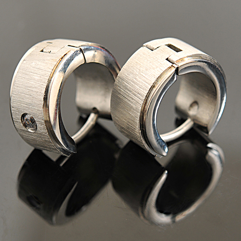 ATGO 316L Stainless Steel Earrings Stud, Men Earrings For Punk ROCK, Ear Cuff, Christmas Gift Male Female Jewelry BE019