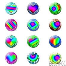 12pcs Lover Heart 30 MM 25 Fridge Magnet Romantic Love Valentines Day Glass Dome Magnetic Refrigerator Stickers Home Decor