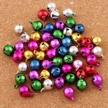 400pcs 8mm Mix Jingle Christmas Bells Loose Beads Copper Bell Charms L1755 Jewelry DIY 50pcs christmas jingle bells metal little bells decoration colorful mix color party diy beads christmas jewelry accessories