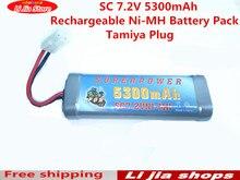 Pacote para Car Nova Chegada 1 Pcs SC 7.2 V 5300 Mah Ni-mh Batterie Bateria RC Truck Buggy Barco