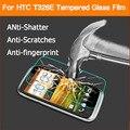 """Анти-поколебать экран протектор фильм для HTC T328e Желание X Закаленное Стекло пленка для HTC T328e Desire X 4 """"HD жк-защитные пленки"""