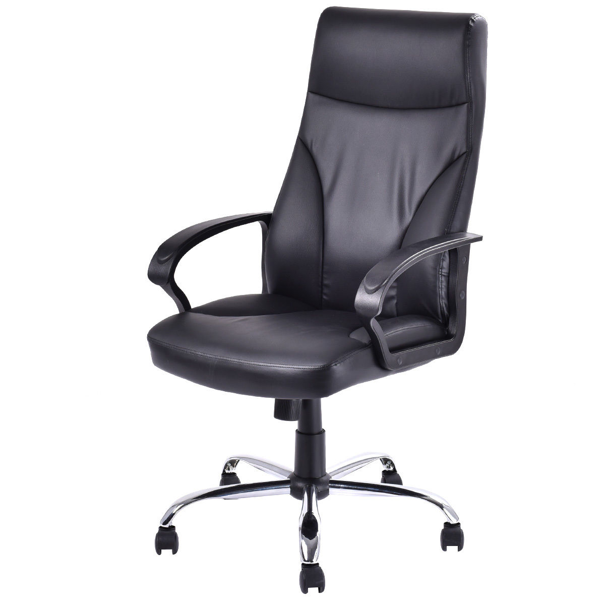 Giantex PU Leather High Back Office Chair Executive Computer Desk Task Armchairs Modern Swivel Adjustable Gaming Chair HW52713