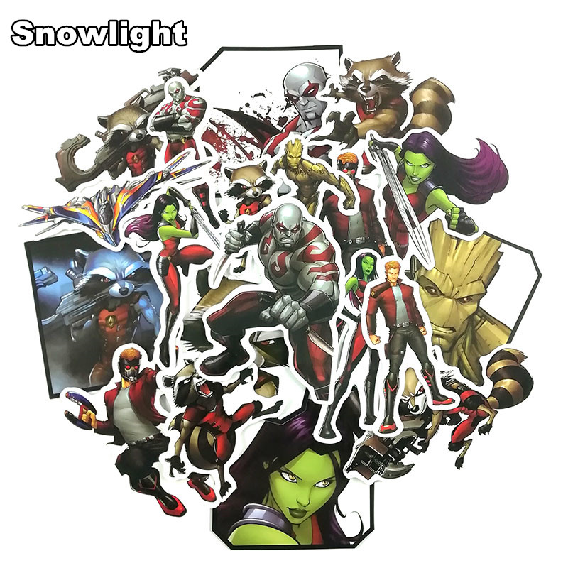 24 Pcs/Lot Guardians Of The Galaxy Graffiti Sticker For Laptop Luggage Fridge Skateboard Guitar Car Popular Decal Toy Sticker