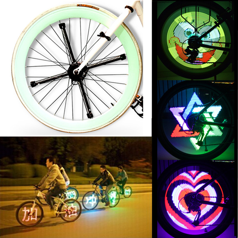 96/192 pièces RGB LED Smart Cycle vélo vélo lumière colorée roue a parlé lumière Programmable lumière à assembler soi-même lampe modèle Bicicleta