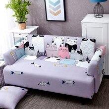 Capa de sofá bonito gato padrão secional capa de sofá com tudo incluído capa de sofá protetor de móveis