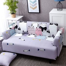 Lovely Cats Spandex Sofa Cover Cute Cats Pattern Sectional Couch Cover All inclusive Couch Cover Furniture Protector