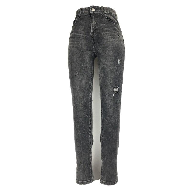 ME&SKI 2019 Fashion Women Jeans Skinny Straight High Elastic Pencil Pants Jeans Female  Pants Stretchy Trousers Dark Grey