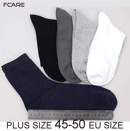 Fcare 10PCS=5 Pairs  45, 46, 47, 48, 49, 50 Big Plus XXXL Size Mens Dress Socks Business Socks  Socks Calcetines
