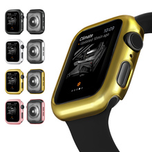 Bumper for Apple Watch Series 5 4 PC hard Case Slim fit IWatch Colorful Plating Thin Protector Plastic Frame 40mm 44mm