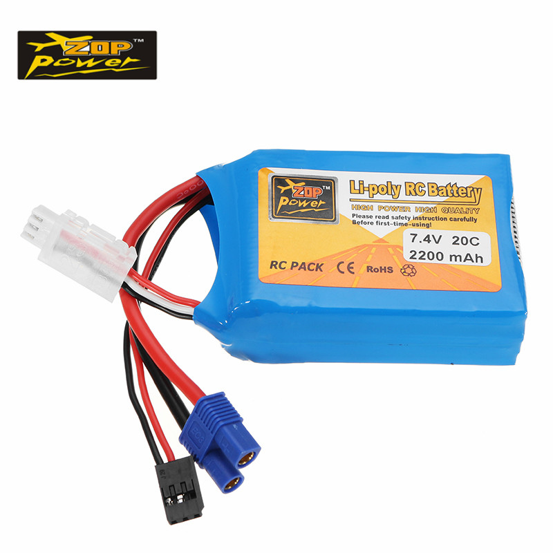 ZOP Power 7.4V 2200mAh 20C 2S Lipo Battery EC3 FUEBBA Plug for RC Helicopter Lithium-Polymer Batterie For RC Car Toys Accs топ спортивный femi stories femi stories fe027ewylv59