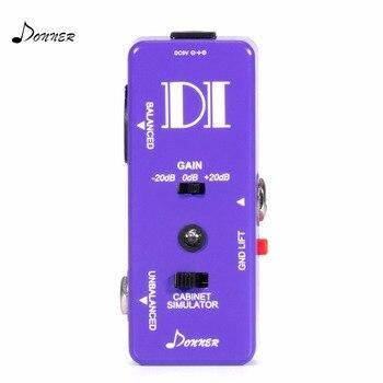 Donner Chitarra Pedale Bass Attivo DI Box Strumento per Bilanciato e Sbilanciato Micro Direct Box