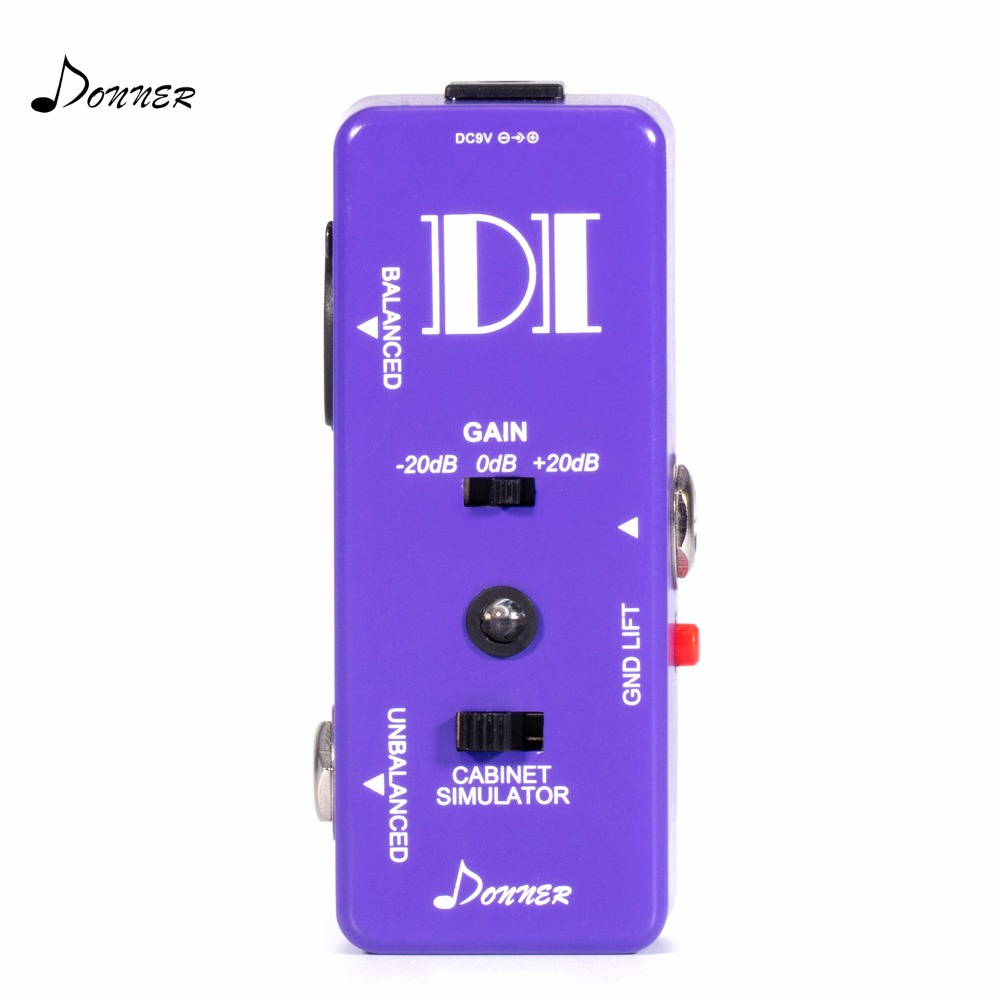 Donner Guitar Pedal Bass Active DI Box Instrument to Balanced & Unbalanced Micro Direct Box