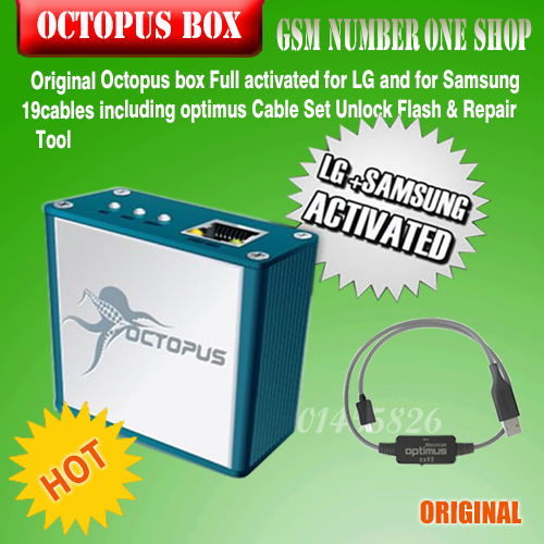 Octopus box Full activated for LG and for Samsung 19cables including optimus Cable Set Unlock Flash & Repair Tool+ Free Shipping