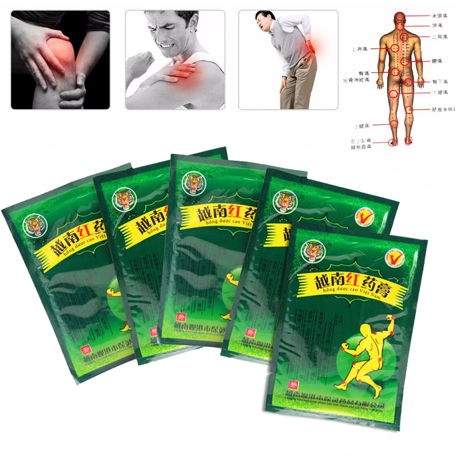 40pcs/lot Original Vietnamese Red Tiger Paste Pain Relief Orthopedic Plaster Pain relief plaster medical Muscle ache Spine patch soft laser healthy natural product pain relief system home lasers