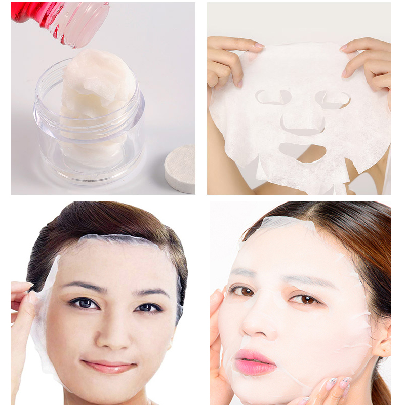 40PCS Face Compression Mask Nonwoven Fabric Mask Paper Skin Care Dry Disposable Compressed Towel Face DIY Mask Makeup Tool Efero