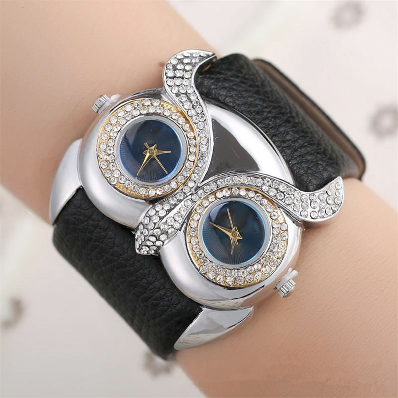 Ms Design Restoring Ancient Ways The Owl Double Time Double Diamond Dial Watch The Watch