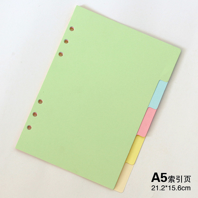 1pcs Manufacturer A5A6A7 color index page classification page loose ...
