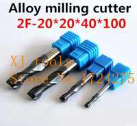 New Free Delivery HRC50 2F 20*20*40*100 alloy milling cutter, carbide end mill, straight shank milling cutter