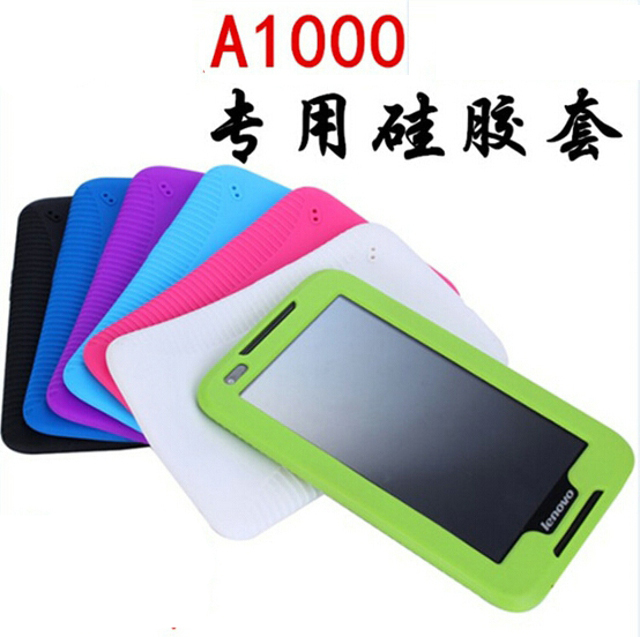best cheap 07977 3e44e US $6.99 |New Fashion Shell Ultra Slim Luxury Silicon Soft Cover Back Smart  Silicone Case For Lenovo IdeaTab A1000 A1010 A1020 7